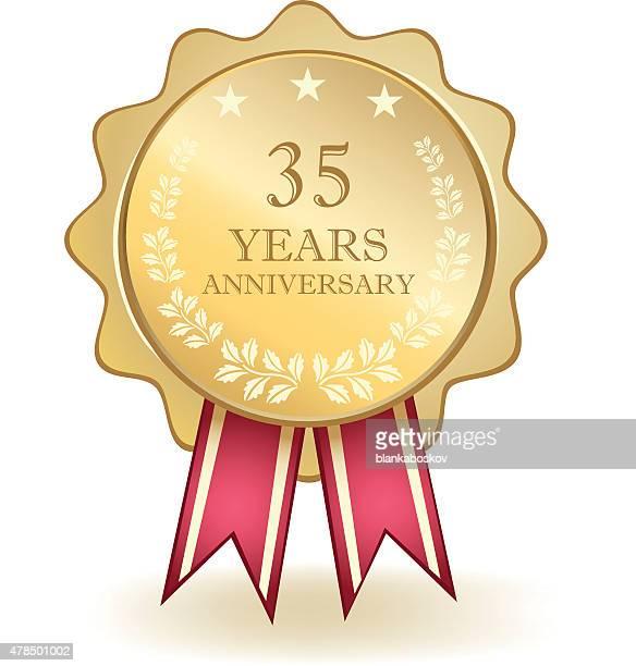 Dreißig fünf Jahre Jubiläum-Medaille