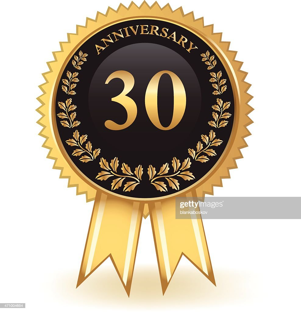 Thirty Year Anniversary Vector Art Getty Images