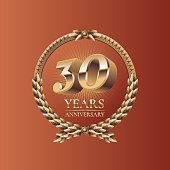 Thirty years anniversary celebration design