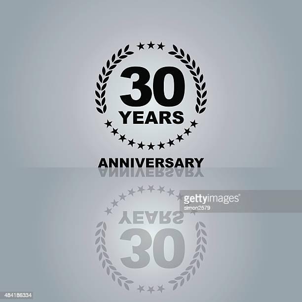 Thirty Years Anniversary emblem