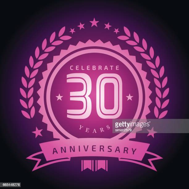 Thirty Years Anniversary Emblem