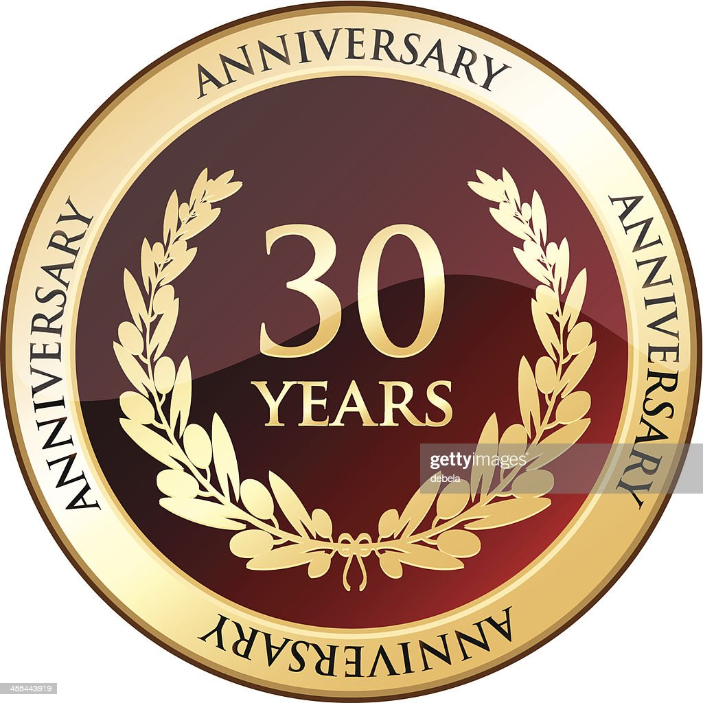 Thirty Years Anniversary Shield Vector Art Getty Images