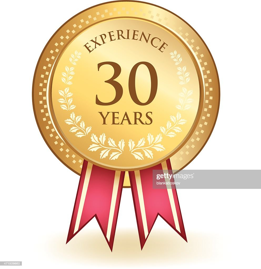 Thirty Years Experience : Stock Illustration