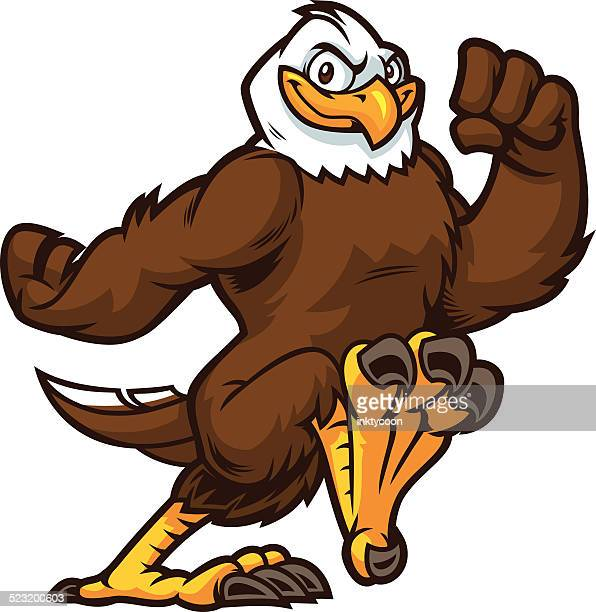 this eagle is running to sucess - eagle bird stock illustrations, clip art, cartoons, & icons