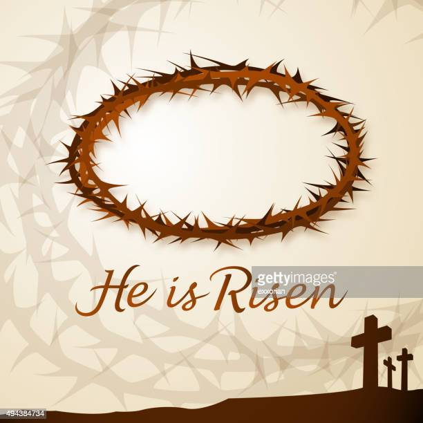thorncrown - holy week stock illustrations, clip art, cartoons, & icons