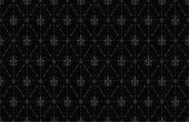 Thorny Fleur de Lis Wallpaper Background Black