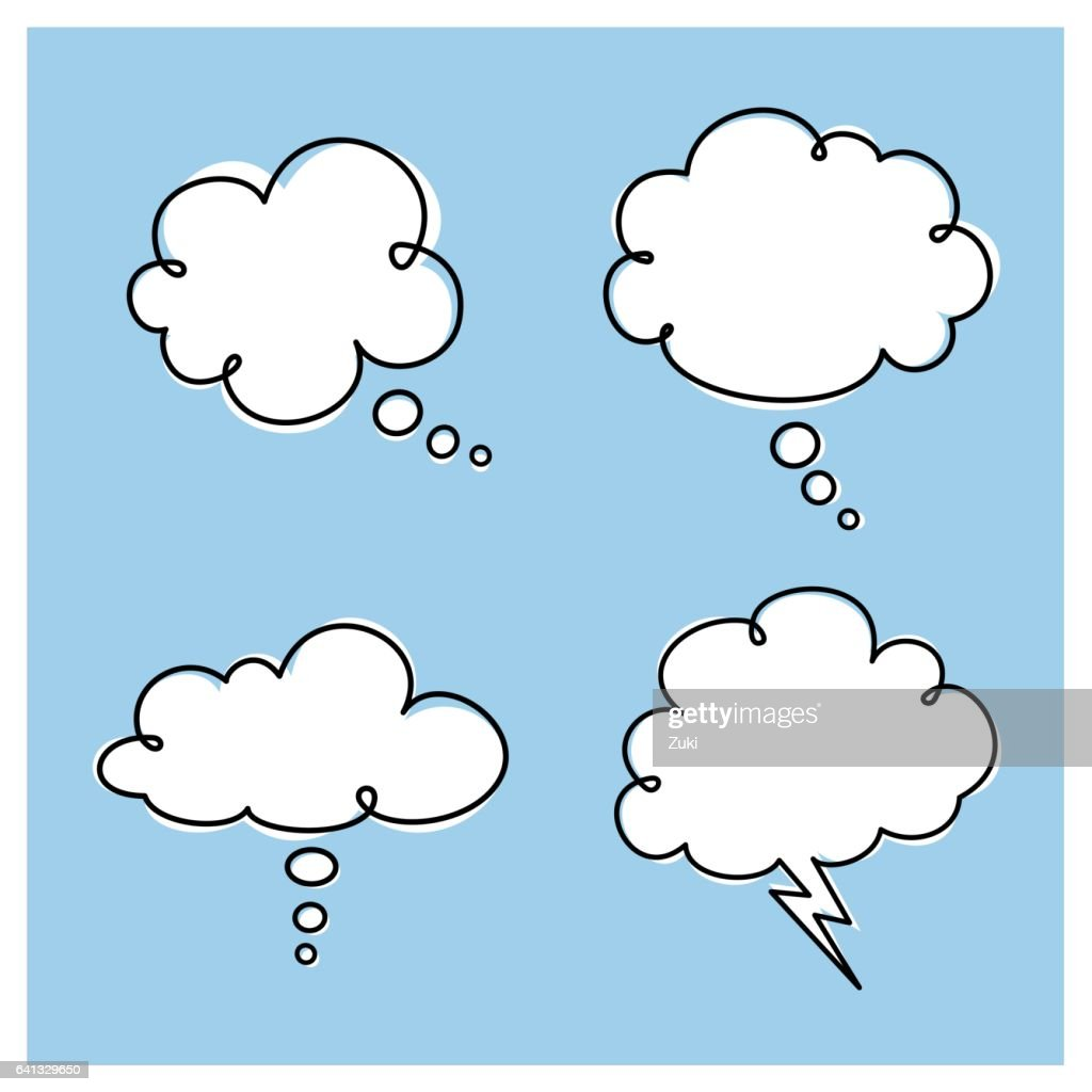 Thought Clouds : stock illustration