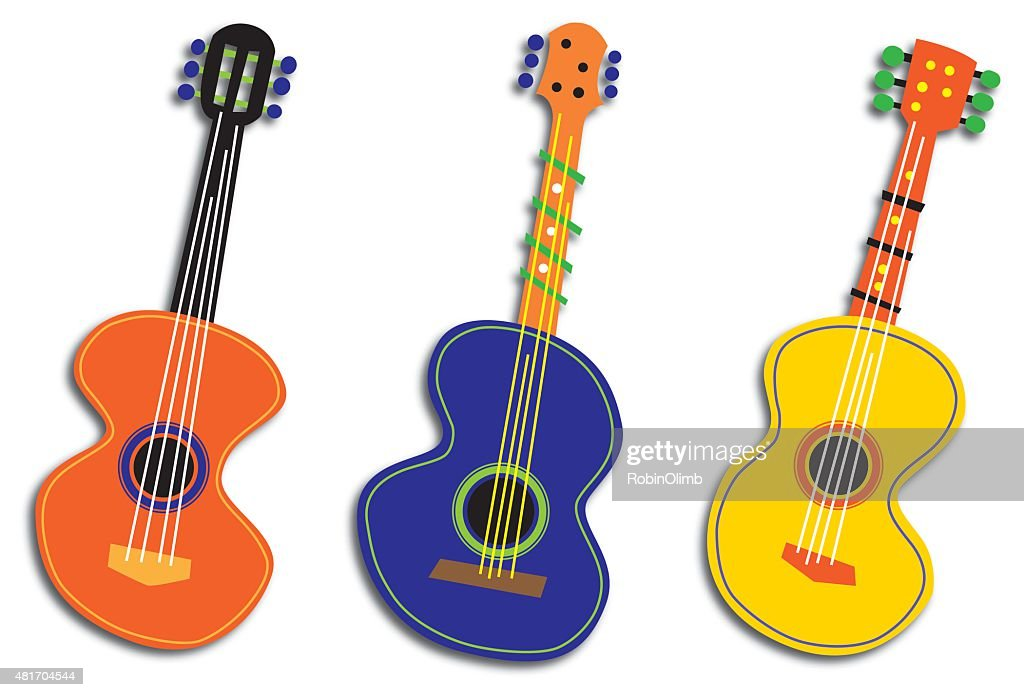 Three Abstract Guitars