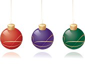 Three baubles in a row.
