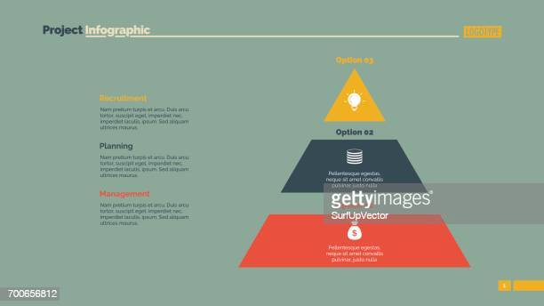 Drie blokken piramide dia sjabloon