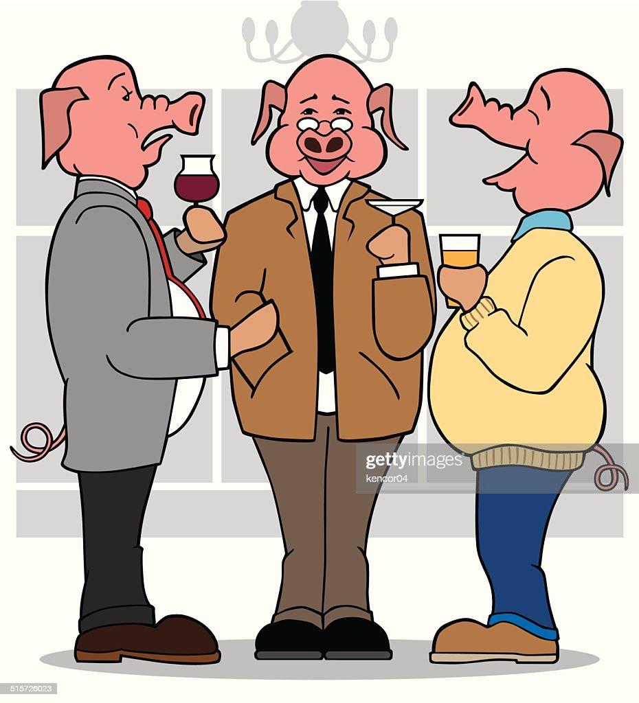 Three Business Pigs