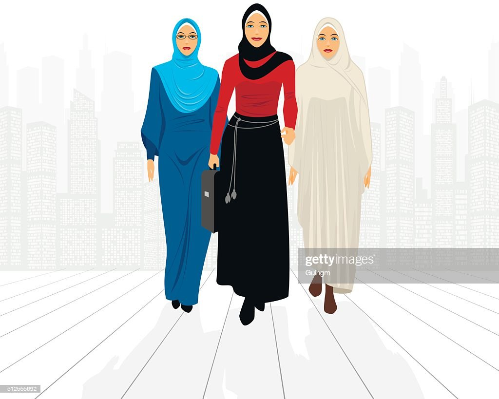 Three businesswomen in city
