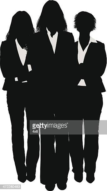 Three businesswomen silhouette