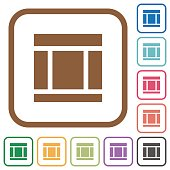 Three columned web layout simple icons
