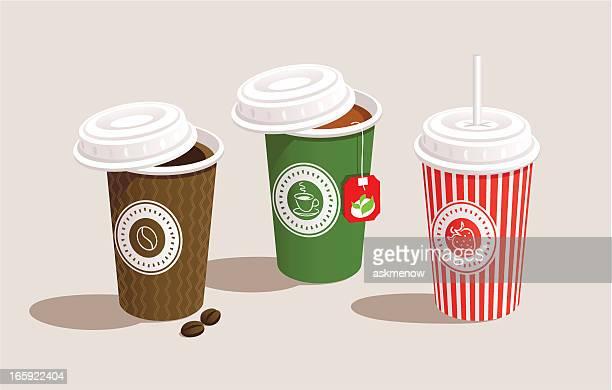 three cups - green tea stock illustrations, clip art, cartoons, & icons