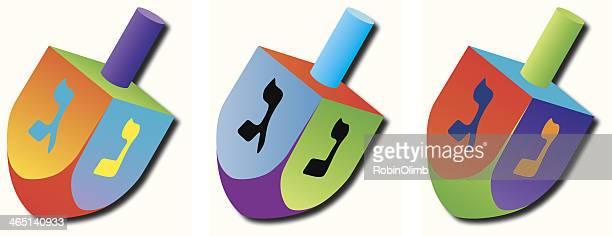 three deidels - hanukkah stock illustrations, clip art, cartoons, & icons