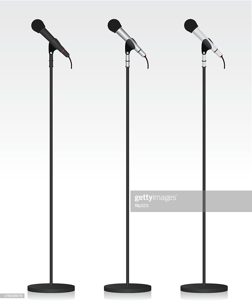 Three different microphone