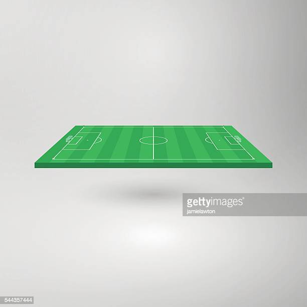 Three Dimensional Football Pitch / Soccer Field (To Scale)