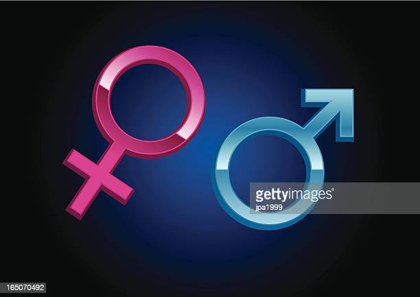 three dimensional male and female gender symbols - males stock illustrations, clip art, cartoons, & icons