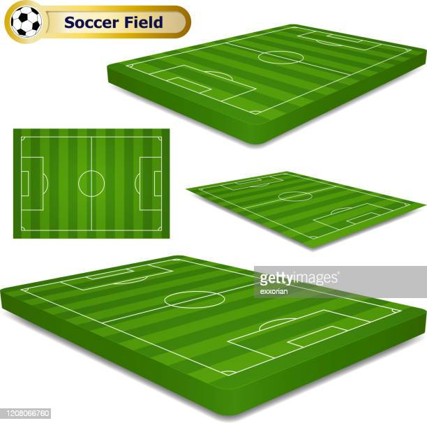 3次元サッカー場 - 球技場点のイラスト素材/クリップアート素材/マンガ素材/アイコン素材