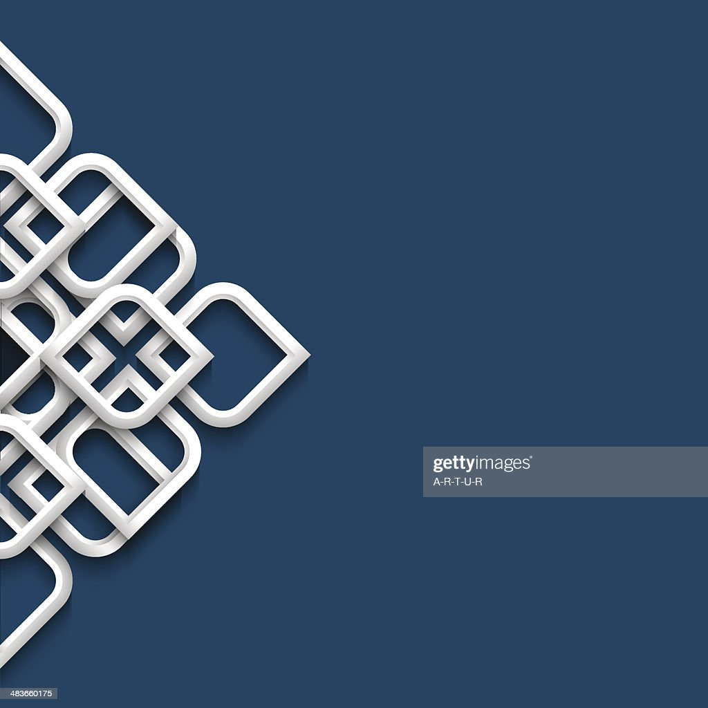 Three dimensional white ornament in arabic style