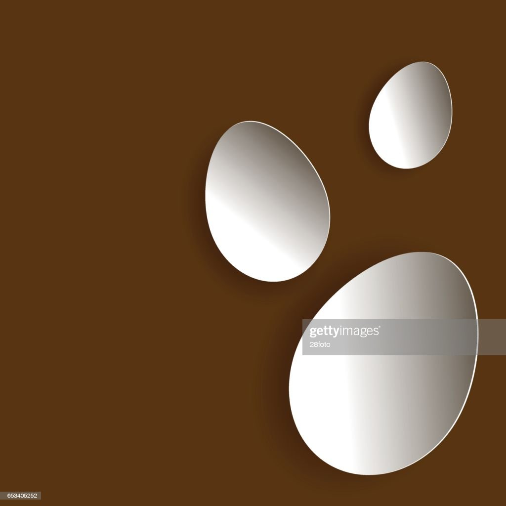 Three egg in braun