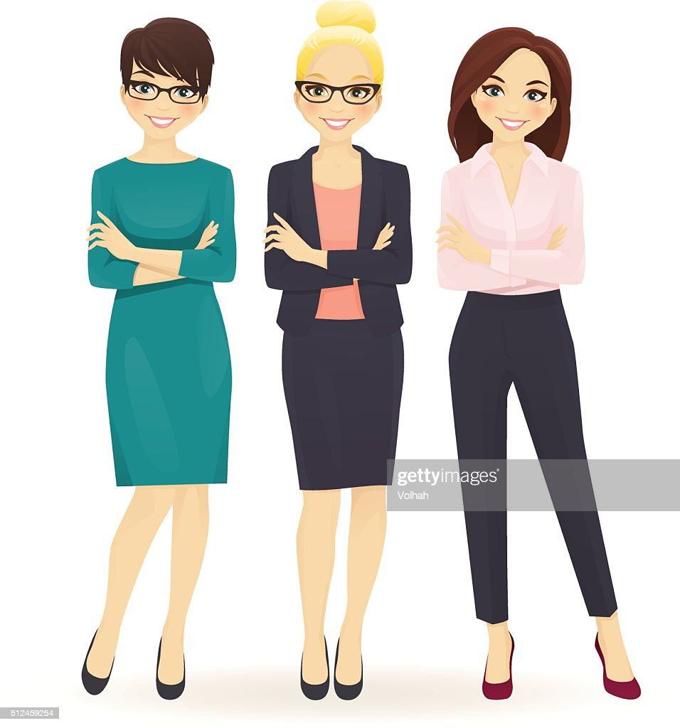 Three elegant business women