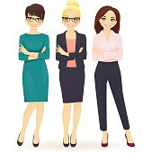 Three elegant business women