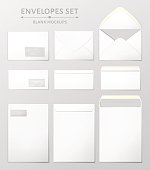 Three envelopes set