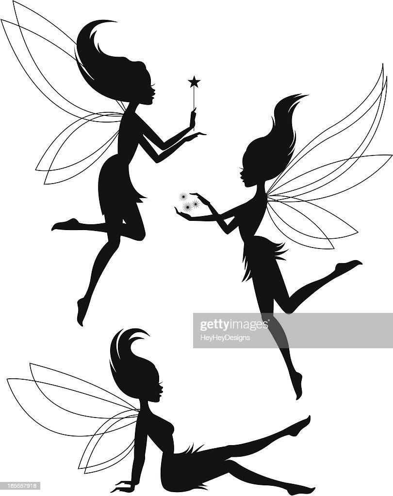 Three Fairy Silhouettes
