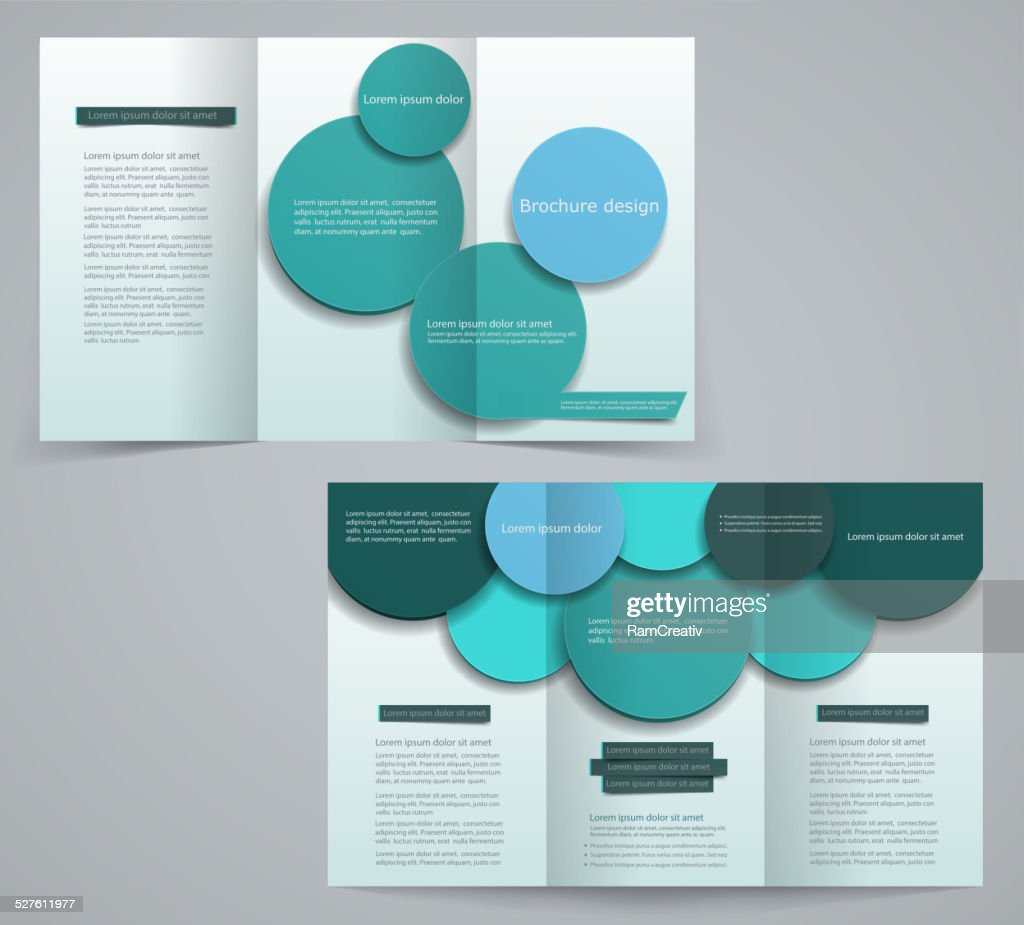 Three fold business brochure template