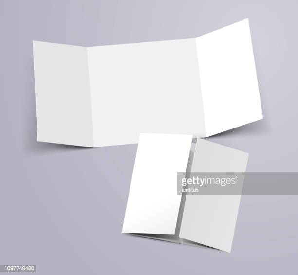 three fold template - folded stock illustrations