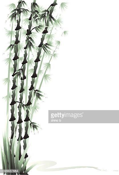 Drei Freunde des kalten-Bambus