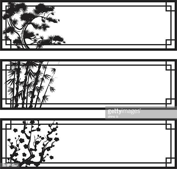3 つのバナーの友人の冷たい - 竹点のイラスト素材/クリップアート素材/マンガ素材/アイコン素材