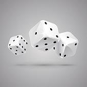 Three game dice