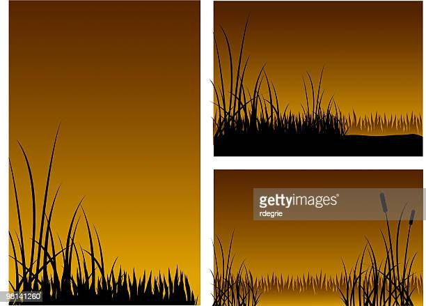 Three Grassy Silhouettes