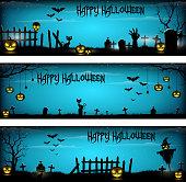Three Halloween Banners