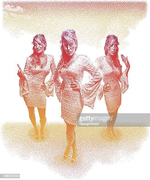 Three Hot Women