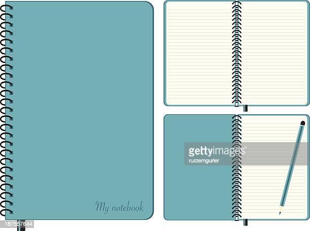 ilustrações, clipart, desenhos animados e ícones de manual de conjunto - caderno de anotação