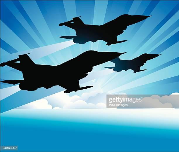 three jets - falcons stock illustrations, clip art, cartoons, & icons