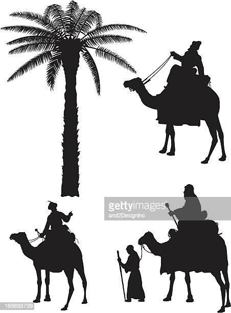 Siluetas de tres reyes