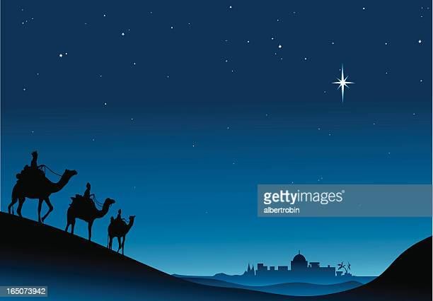 three kings - three wise men stock illustrations, clip art, cartoons, & icons