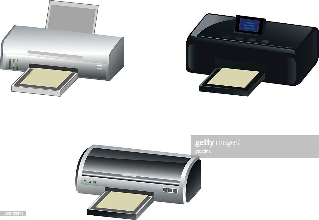 Three modern printer