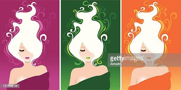 ilustrações de stock, clip art, desenhos animados e ícones de três muses - mulher fatal