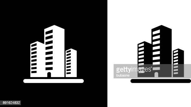 three office buildings. - skyscraper stock illustrations