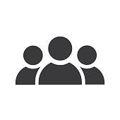 Three persons icon black - Vector