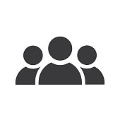 Three persons icon black - Vector