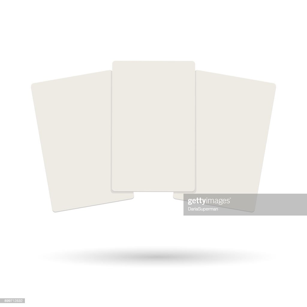 Three realistic blank plastic credit cards flying on a white background.
