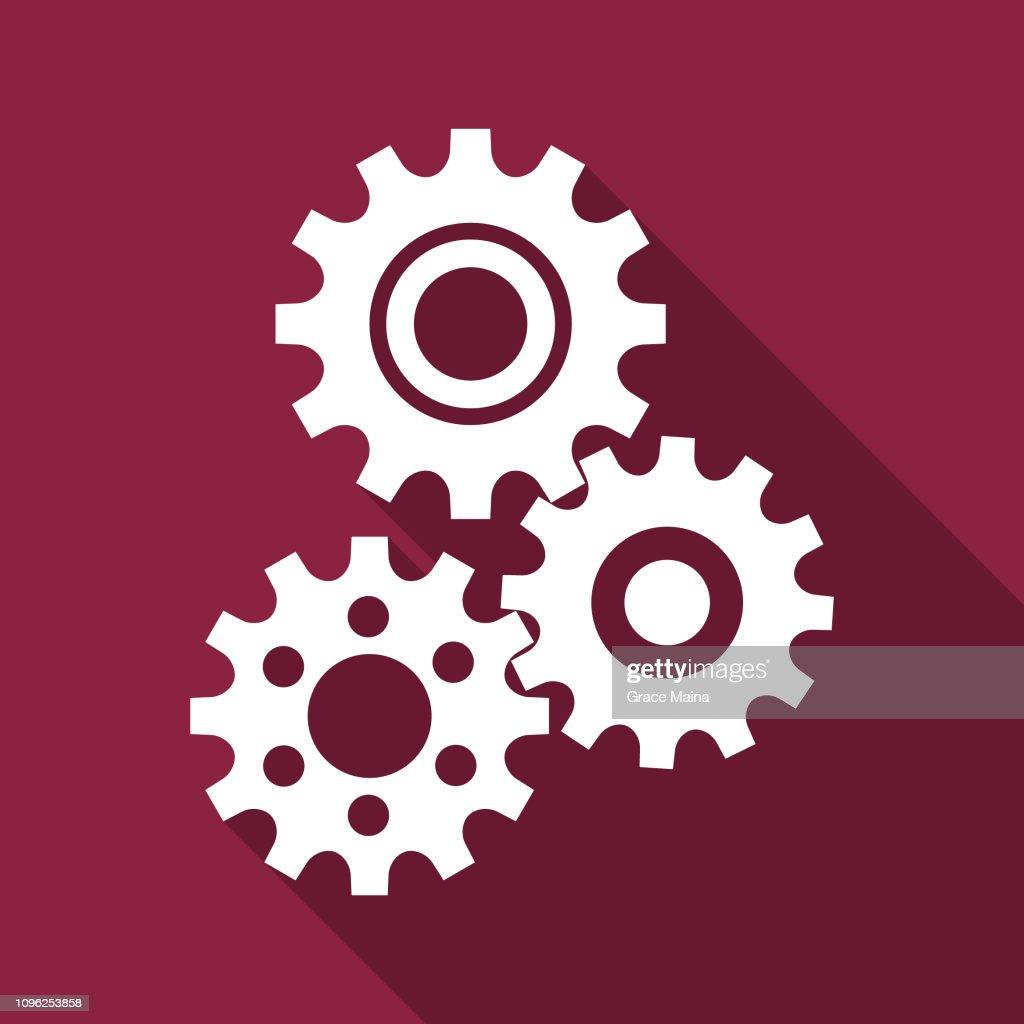 Three Rotating Gear Mechanism : stock illustration