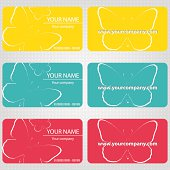 Three samples of business cards  with butterflies for your compa